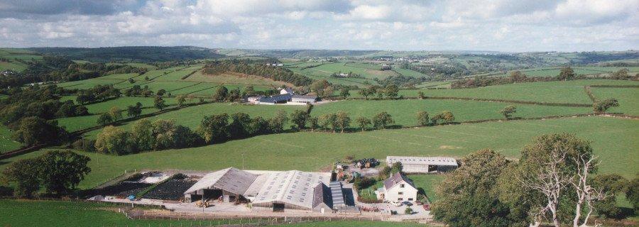 Alltyfyrddin Farm view